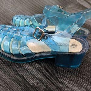 Shoes - Aqua Heeled Jellies